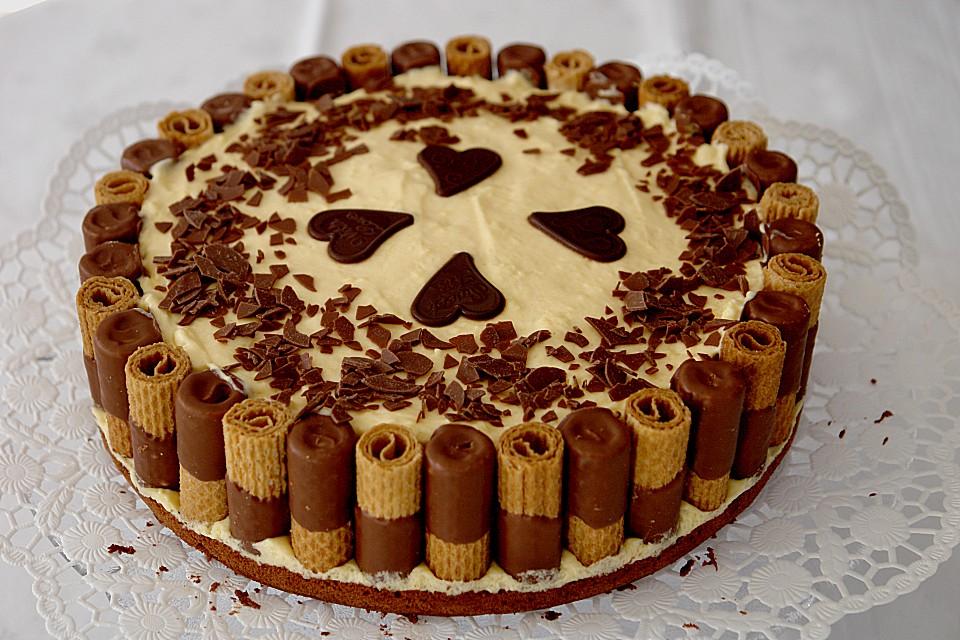 Kuchen in schoko waffeln