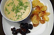 Kartoffelsuppe mit glasierten Maronen