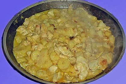 Hähnchenkeulen mit Banane und Ananas 1