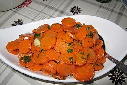 Karamellisierte Karotten 2