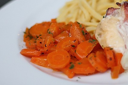 Karamellisierte Karotten 4