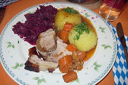 Bayerischer Schweinebraten mit Biersauce 2