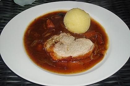 Bayerischer Schweinebraten mit Biersauce 7
