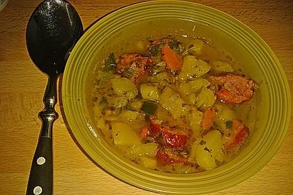 Dicke Kartoffelsuppe mit Wurst 7