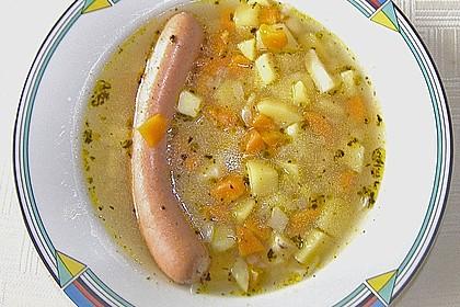 Dicke Kartoffelsuppe mit Wurst 2