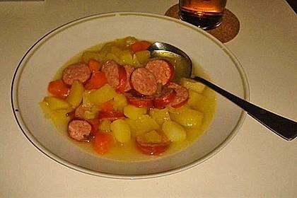 Dicke Kartoffelsuppe mit Wurst 4