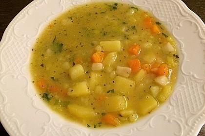 Dicke Kartoffelsuppe mit Wurst 1