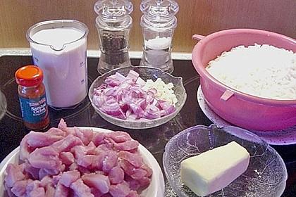 SABO - Schnitzel und Reis - Pfanne mit Käsesauce 1
