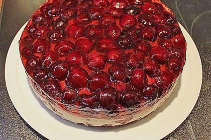 Kirsch - Torte mit Mascarpone Crème 5