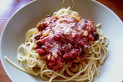 Spaghetti mit Tomaten - Thunfischsauce 2
