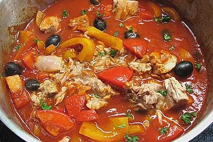 Spaghetti mit Tomaten - Thunfischsauce 1