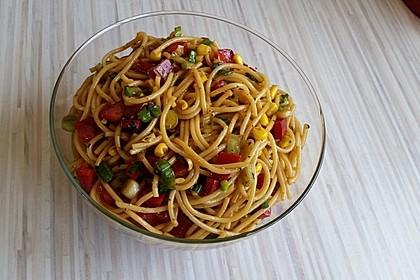 Spaghetti - Salat asiatisch