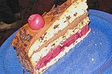 Mousse au Chocolat - Torte mit Kirschen