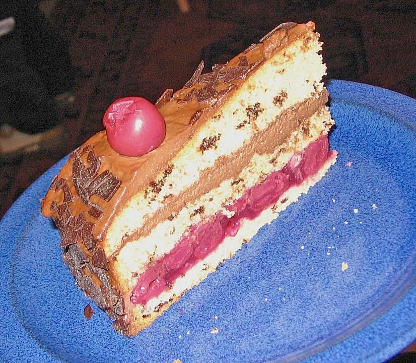 mousse au chocolat torte mit kirschen von galimero. Black Bedroom Furniture Sets. Home Design Ideas