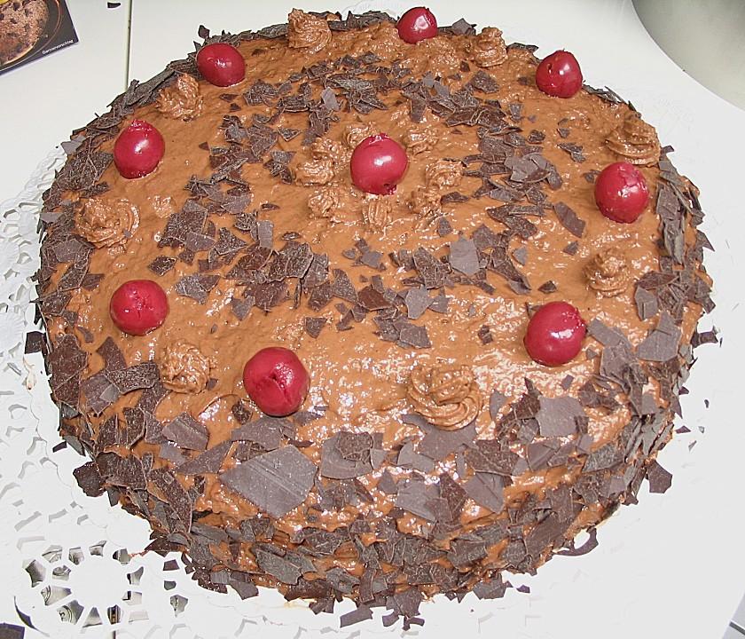 mousse au chocolat torte mit kirschen rezept mit bild. Black Bedroom Furniture Sets. Home Design Ideas