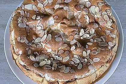 Rhabarberkuchen auf dem Blech mit Mandel - Baiser 1
