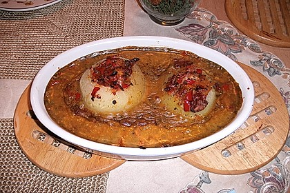 Gefüllter Kohlrabi mit Paprika