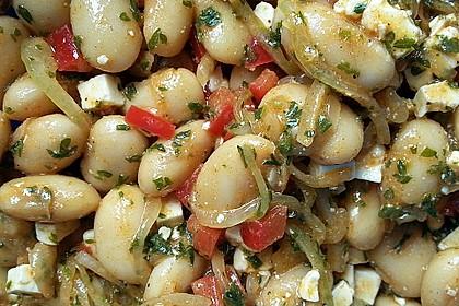 Piyaz; weißer türkischer Bohnensalat 6