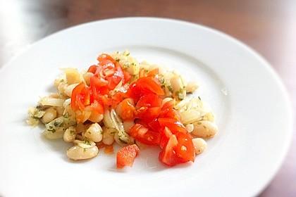 Piyaz; weißer türkischer Bohnensalat 7