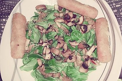 Feldsalat an Champignons 6