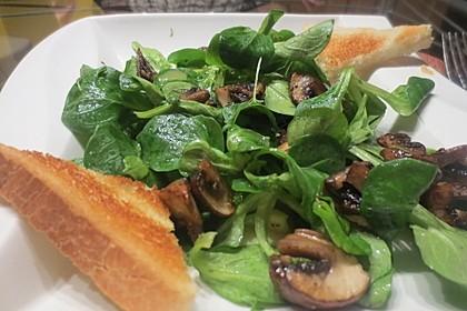 Feldsalat an Champignons 2