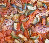 Toscanische Hähnchenkeulen (Bild)