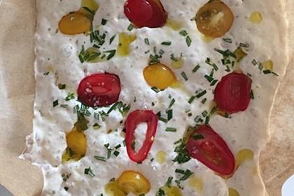 Focaccia mit Tomaten und Rosmarin 28