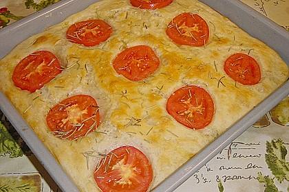 Focaccia mit Tomaten und Rosmarin 67