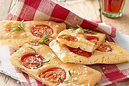 Focaccia mit Tomaten und Rosmarin 2