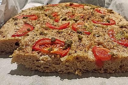 Focaccia mit Tomaten und Rosmarin 16