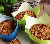Zwetschgen-Muffins mit Amarettini