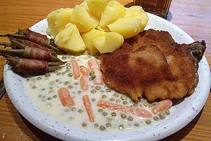 Panierte Koteletts mit Zwiebel-Rahm-Soße 18
