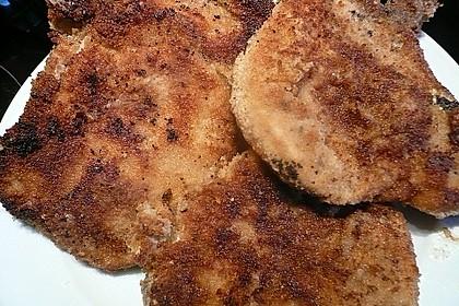 Panierte Koteletts mit Zwiebel-Rahm-Soße 16