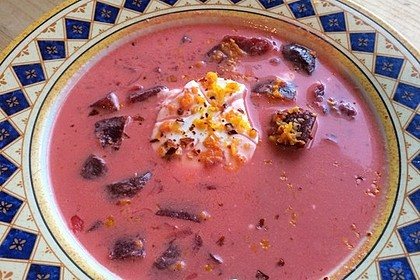 Rote Bete–Orangen-Suppe 7