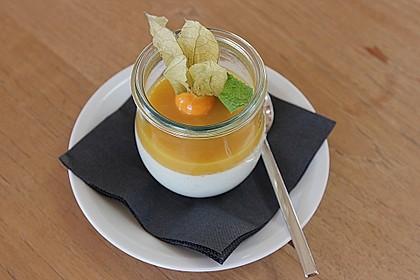 Zitronengras-Panna cotta mit Mangosauce 3