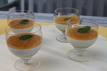 Zitronengras-Panna cotta mit Mangosauce 4