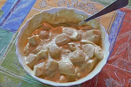Eiersalat mit selbstgemachter Curry-Mayonnaise und Ananas 8
