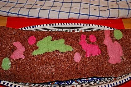 Biskuitrolle mit Erdbeerfüllung 37