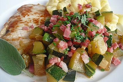 Geschmorte Zucchini