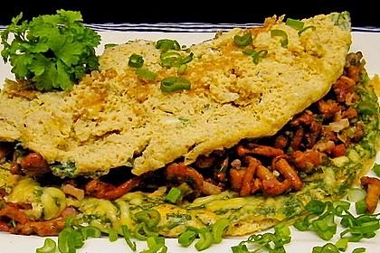 Omelette mit Pfifferlingen 6