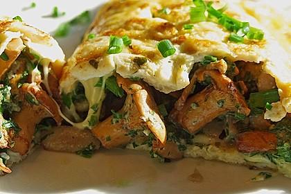 Omelette mit Pfifferlingen 1