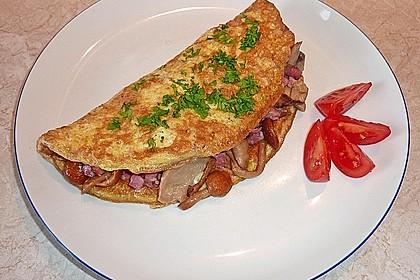 Omelette mit Pfifferlingen 5