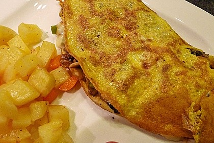 Omelette mit Pfifferlingen 12