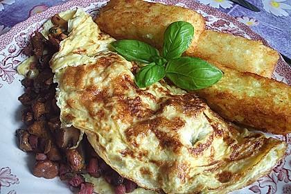 Omelette mit Pfifferlingen 3
