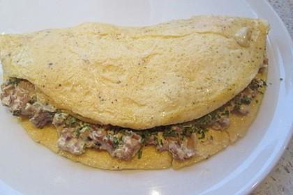 Omelette mit Pfifferlingen 9