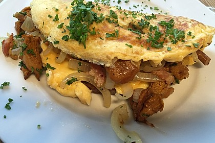 Omelette mit Pfifferlingen 2