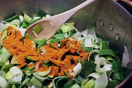 Lauchgemüse mit Curry 3