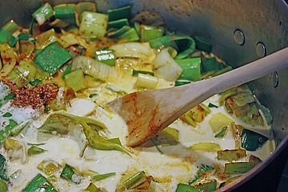 Lauchgemüse mit Curry