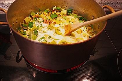 Lauchgemüse mit Curry 1