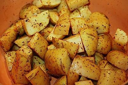 Kartoffelspalten mediterran, aus der Actifry oder aus dem Backofen 7